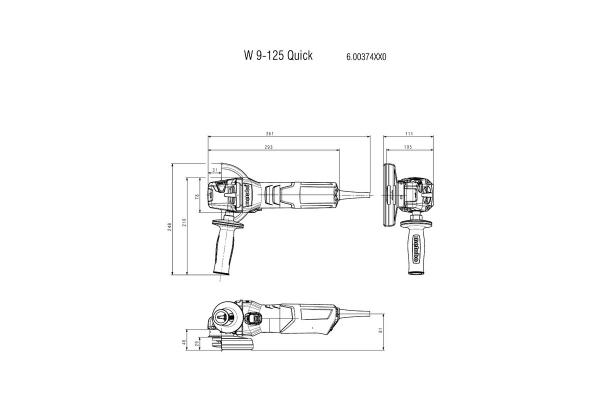 Szlifierka kątowa Metabo W 9-125 Quick 600374000