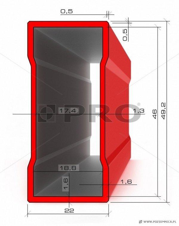 Poziomnica PRO 600ENDURANCE 60cm - Z magnesem