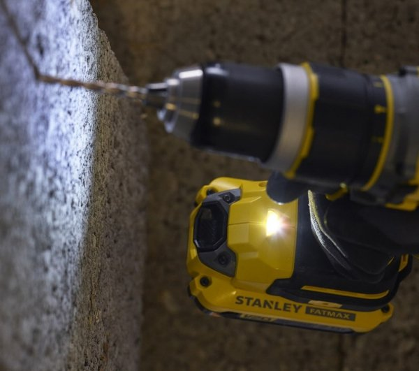 Bezszczotkowa wiertarko-wkrętarka STANLEY FATMAX SFMCD721D2K 18V V20 2x 2.0Ah