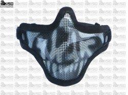 Maska typu Stalker - czarna z czaszką