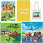 Przemo Urbaniak WUJEK OGÓREK Płyta CD Wesoły Mrówkojad, Podróże Wujka Ogórka + Plakat + Torba + 3 Naklejki - Zestaw nr 3
