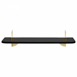 Aytm AEDES Półka Ścienna 50 cm Czarna - Uchwyt Złoty