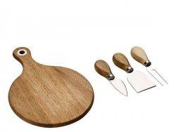 Funktion SCANDI Drewniana Deska do Serwowania + 3 Noże do Serów