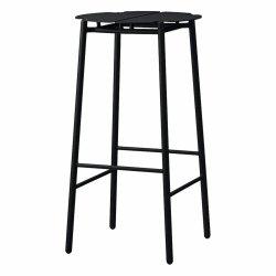 Aytm NOVO Hoker Stalowy - Krzesło Barowe 75 cm Czarny