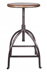 Broste Copenhagen SIRE Krzesło Barowe - Hoker z Regulowanym Siedziskiem
