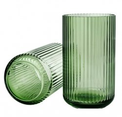 Lyngby Porcelain LYNGBY Wazon Szklany 25 cm Zielony