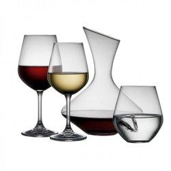 Lyngby Glass KRYSTALL Kieliszki, Karafka, Szklanki - Zestaw do Wina 19 El.