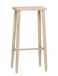 Hübsch OBAR Krzesło Barowe 72 cm Hoker Dębowy - Naturalny