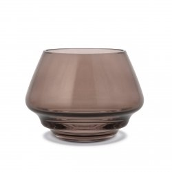 Holmegaard FLOW Świecznik Tealight - Brązowy