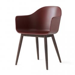 Menu HARBOUR Krzesło - Rama Drewniana Ciemna/Siedzisko Bordowe