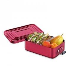 Küchenprofi TO GO Lunchbox - Metalowy Pojemnik na Lunch, Drugie Śniadanie - Czerwony