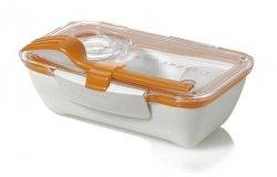 black+blum BENTO BOX Pojemnik Lunch Box - Biało/Pomarańczowy