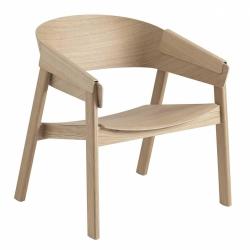 Muuto COVER LOUNGE Krzesło Drewniane - Dębowe