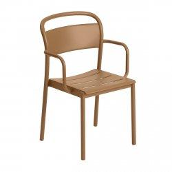 Muuto LINEAR Krzesło Metalowe z Podłokietnikiem - Pomarańczowe