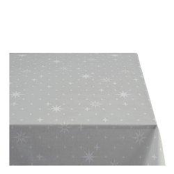 Sodahl CHRISTMAS STELLA Obrus Świąteczny na Stół 140x270 cm Szary
