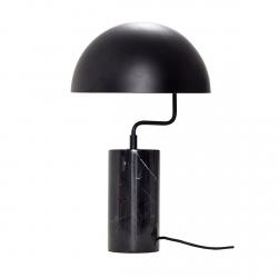 Hübsch MARBLE Marmurowa Lampa Stołowa - Czarna
