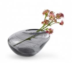 Philippi CARLA Szklany Wazon do Kwiatów 21 cm Szary