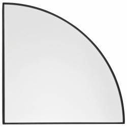 Aytm UNITY Lustro Ścienne 25 cm Czarne