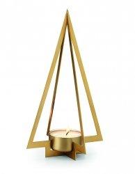Philippi NAVIDAD Świecznik Świąteczny - Choinka 20 cm Złoty