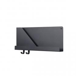 Muuto FOLDED Organizer - Półka Ścienna 51 cm Czarna