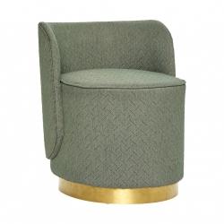 Hübsch SOFT Fotel Tapicerowany - Zielony