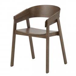 Muuto COVER Krzesło Drewniane - Ciemnobrązowe