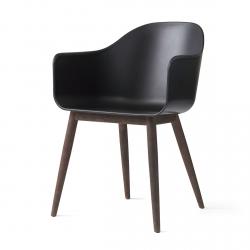Menu HARBOUR Krzesło - Rama Drewniana Ciemna/Siedzisko Czarne