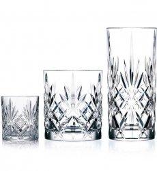 Lyngby Glass MELODIA Kryształowe Szklanki i Kieliszki 12 El.