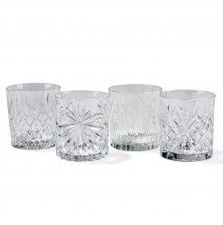 Lyngby Glass KRYSTAL Kryształowe Szklanki do Whisky, Drinków 300 ml 4 Szt.