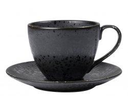 Bitz BLACK Filiżanka ze Spodkiem 240 ml Czarna 6 Szt.