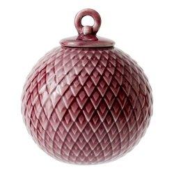 Lyngby Porcelain RHOMBE Bombka Porcelanowa - Bordowa