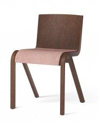 Menu READY Krzesło Drewniane Tapicerowane - Ciemny Dąb / Siedzisko Tkanina Canvas 356
