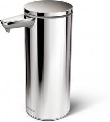 Simplehuman - Automatyczny Dozownik do Mydła - Akumulatorowy 266 ml Srebrny Polerowany