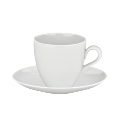 Alessi MAMI Filiżanki ze Spodkami do Kawy 200 ml 6 Szt. Białe