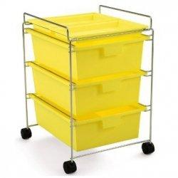 Authentics GO Wózek Wielofunkcyjny na Kółkach - Żółty