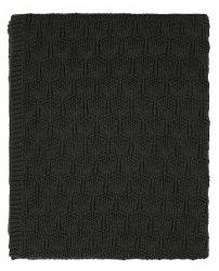 Sodahl DECO Bawełniany Pled - Koc 130x170 cm Antracytowy Ash