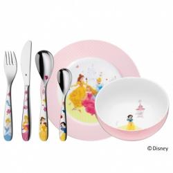 WMF Zestaw dla Dzieci - Sztućce + Porcelana 6 El. - Księżniczki Disney