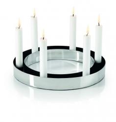 Philippi RING Świecznik Adwentowy 30 cm Srebrny