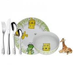 WMF Zestaw dla Dzieci - Sztućce + Porcelana SAFARI + Figurka
