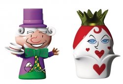 A di Alessi THE HATTER & THE QUEEN OF HEARTS Porcelanowe Figurki