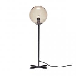Hübsch MARBLE Lampa Stołowa - Czarna - Klosz Szary