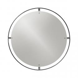 Menu NIMBUS Okrągłe Lustro Ścienne 110 cm Rama Mosiądz Brązowy