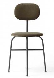 Menu AFTEROOM Krzesło Czarne Tapicerowane - Tkanina City Velvet CA 7832/078