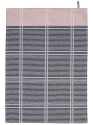 SÖDAHL - CHECK IT OUT Ręcznik Kuchenny 50x70 cm Szary/Różowy