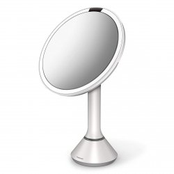 Simplehuman SENSOR Lustro Kosmetyczne do Makijażu - Powiększające, z Podświetleniem - Białe