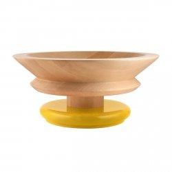 Alessi TWERGI Drewniana Misa na Owoce 30 cm Żółta (100-lecie Alessi)