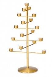Philippi TWING Świecznik - Choinka Świąteczna na Tealight - Złota