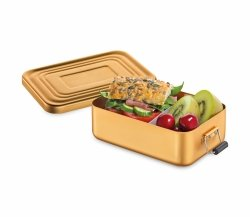 Küchenprofi TO GO Lunchbox - Metalowy Pojemnik na Lunch, Drugie Śniadanie - Złoty