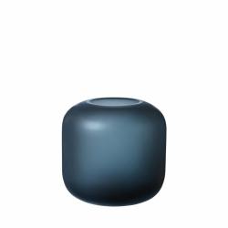 Blomus OVALO Szklany Wazon do Kwiatów 17 cm Niebieski