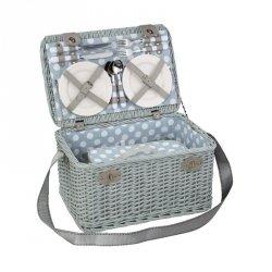 Cilio CASLANO Kosz Piknikowy z Wyposażeniem dla 4 Osób